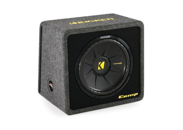 Kicker Loaded Car Bass System Vcws12 Single Comps 12- Subwoofer Vented Mdf Enclosure Box