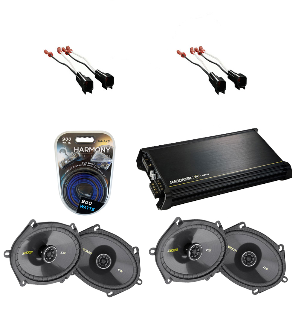 hight resolution of lincoln mkz 2007 2010 kicker factory 5x7 6x8 coaxial speaker replacement 2 cs684