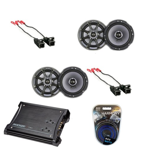 small resolution of chevy colorado 04 12 crew cab kicker 2 ks65 oem speakers zx350 4 amplifier