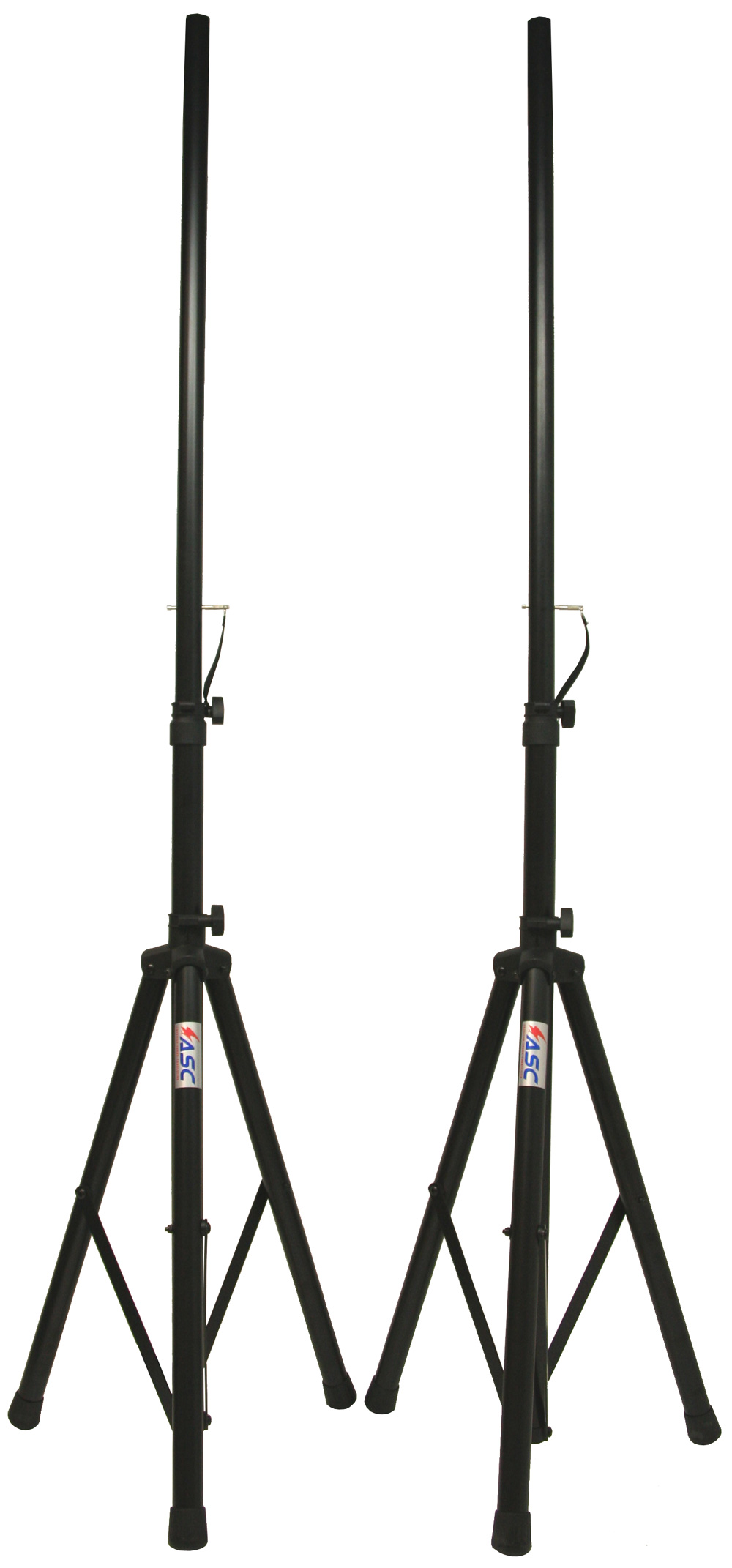(2) DJ PA Speaker Universal Stands and (2) 15 Foot Speakon