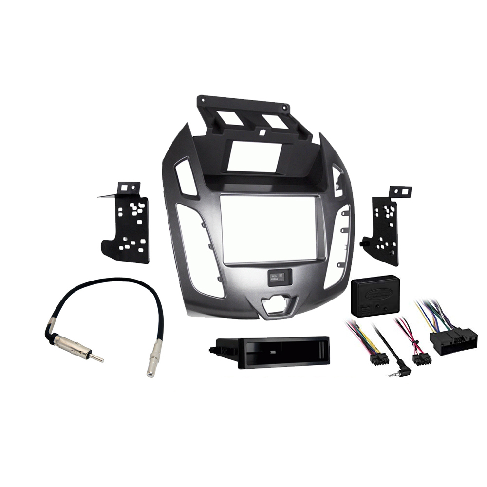 hight resolution of details about ford transit connect 2014 2016 stereo radio install dash kit gray package new