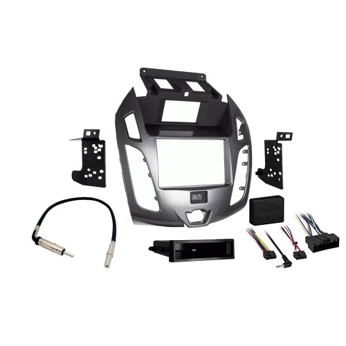 small resolution of details about ford transit connect 2014 2016 stereo radio install dash kit gray package new