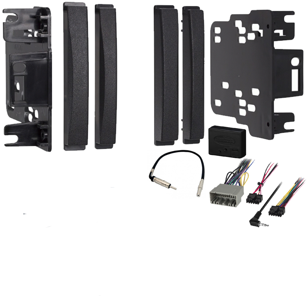 hight resolution of dodge journey 2009 2010 double din stereo harness radio install dash kit package sc2 radiokit2027