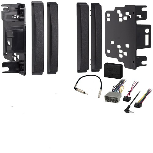 small resolution of dodge journey 2009 2010 double din stereo harness radio install dash kit package sc2 radiokit2027