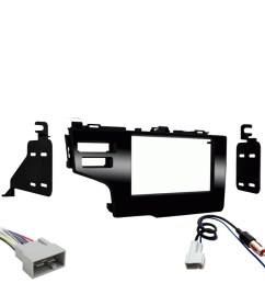 honda fit 2015 2017 double din stereo harness radio install dash kit package new sc2 radiokit2216 [ 1000 x 1000 Pixel ]