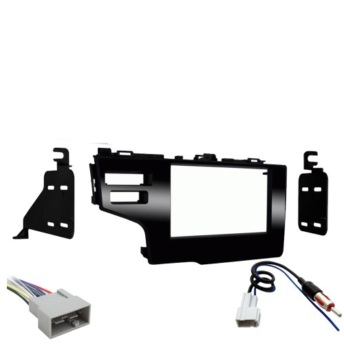 small resolution of honda fit 2015 2017 double din stereo harness radio install dash kit package new sc2 radiokit2216