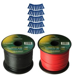 harmony audio primary single conductor 14 gauge power or ground wire 2 rolls 200 feet red black for car audio  [ 1500 x 1500 Pixel ]