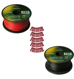harmony audio primary single conductor 18 gauge power or ground wire 2 rolls 200 feet red black for car audio  [ 1500 x 1500 Pixel ]
