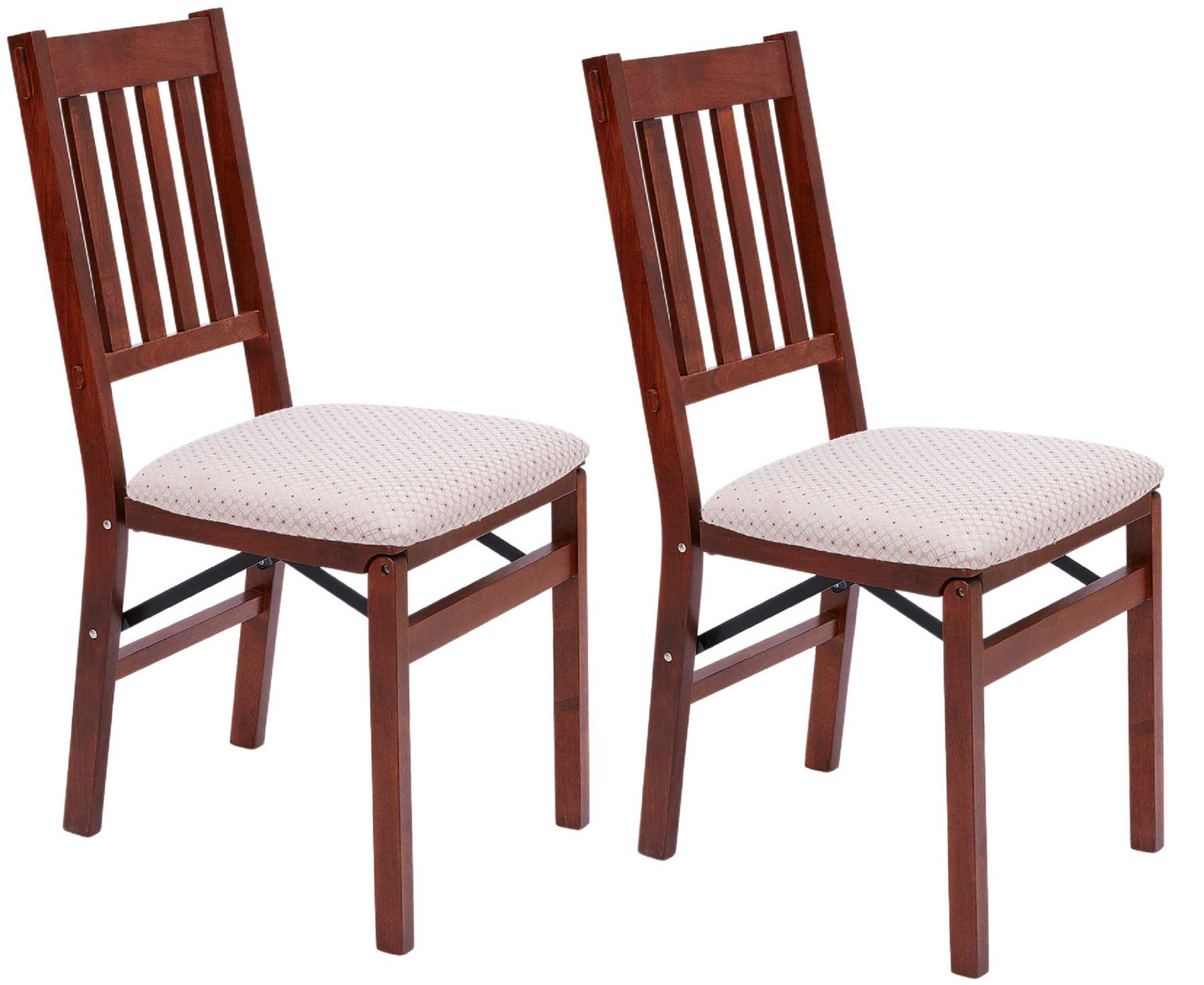 Foldable Dining Chairs Details About Arts And Crafts Folding Dining Chairs 2x Solid Hardwood Frame Cushioned Seat Pad