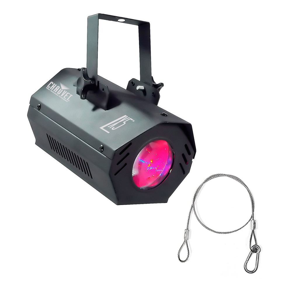Chauvet Dj Lx-5 Sound Activated 57 Led Moonflower Effect Lighting With Harness