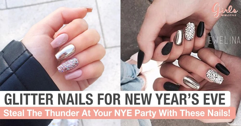 Shine Bright On New Year S Eve With These Gorgeous Nail Designs Girlstyle Singapore