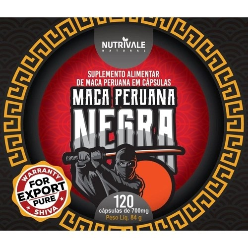 Kit com 5 Maca Peruana Negra (Black) - 600 caps - 700mg - Shiva no ...