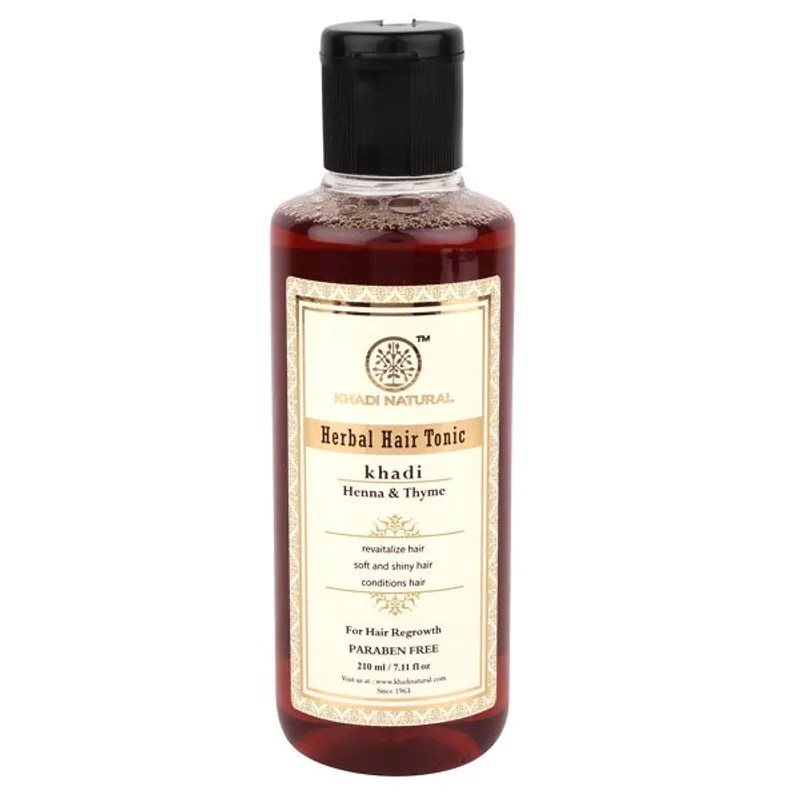 Khadi Natural Thyme Henna Hair Tonic Paraben Free Buy Khadi Natural Thyme Henna Hair Tonic Paraben Free Online At Best Price In India Nykaa