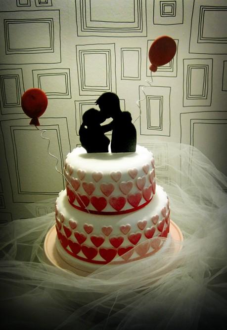 Torte romantiche 20 idee di cake design  Styleit