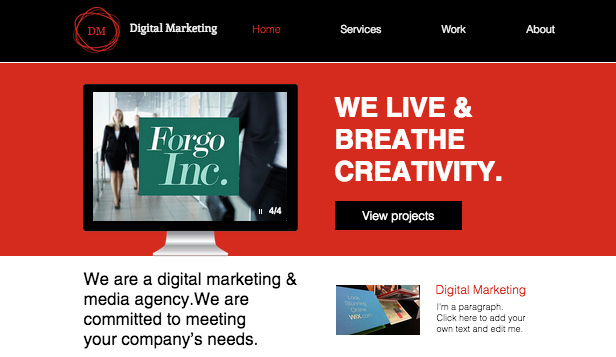 It is powerful enough to suit small, … Advertising Marketing Website Templates Business Wix Com
