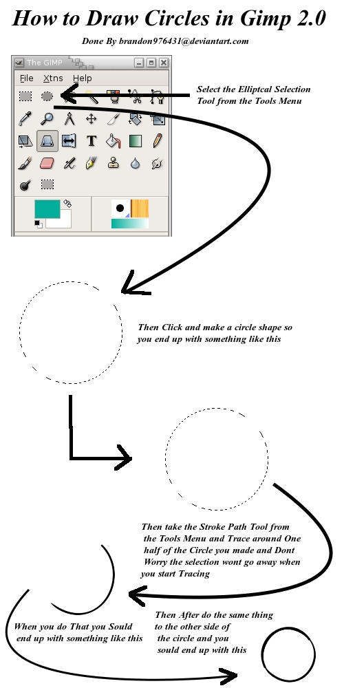 How To Make A Circle In Gimp : circle, Circle, Brandon976431, DeviantArt