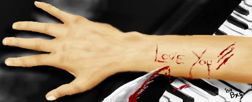 Hand Cuts Blood In Love