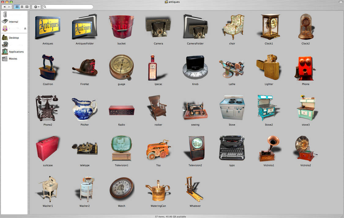 antique mac icons by