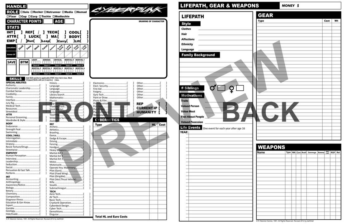 Cyberpunk 2020 Character Sheet by darthhell on DeviantArt