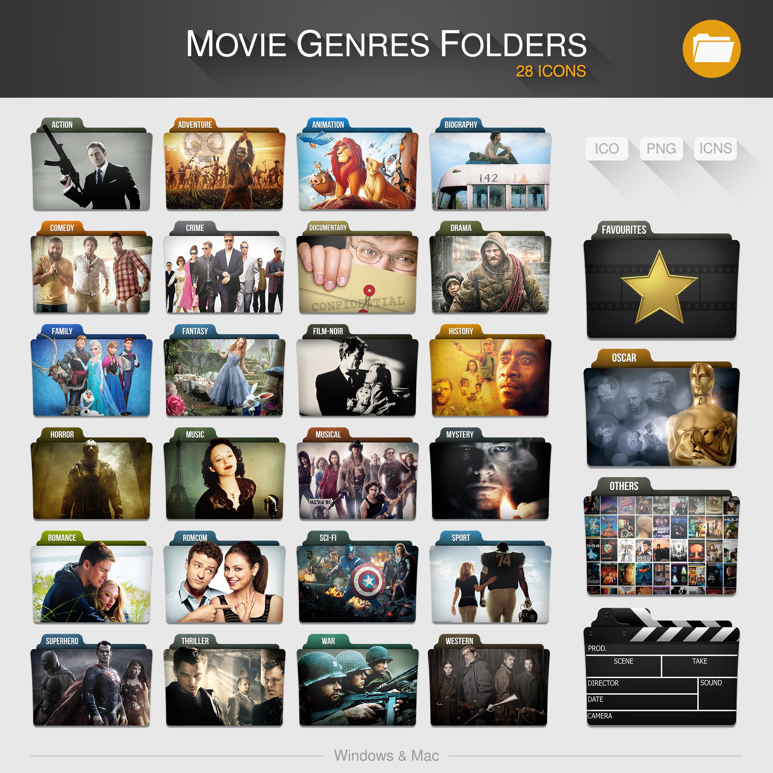 Movie Genres Folders By Limav On Deviantart