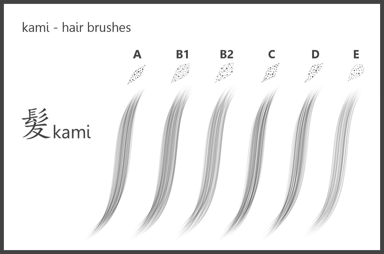 kami_#Hair Brushes_for pse by dev-moon on DeviantArt