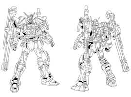 Blitz Gundam Line Art by CommanderAlpha on DeviantArt