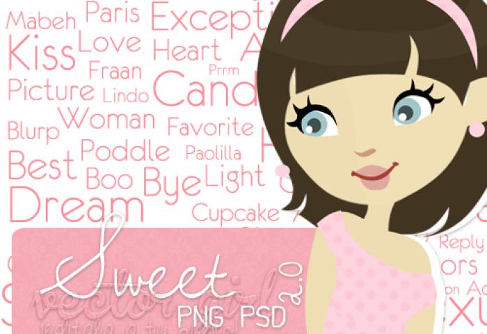 Sweet Vector Girl Psd By Peerfectboyfriend On Deviantart