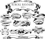 Banners n Scrolls Photoshop and GIMP Brushes by