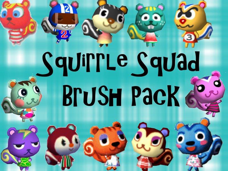 squirrel squad brush pack