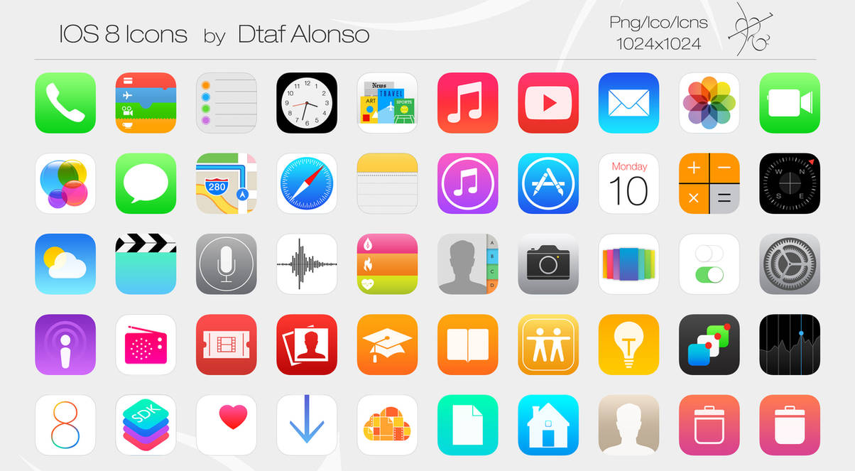 ios 8 icons by