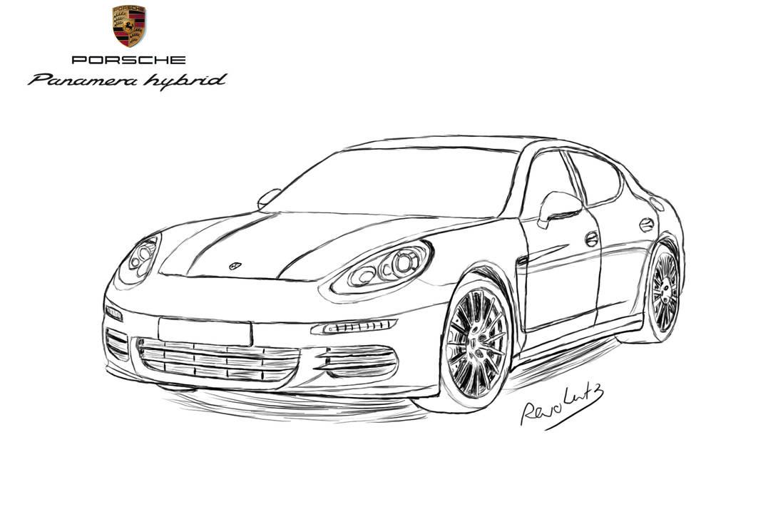 Porsche Panamera Drawing by Revolut3 on DeviantArt