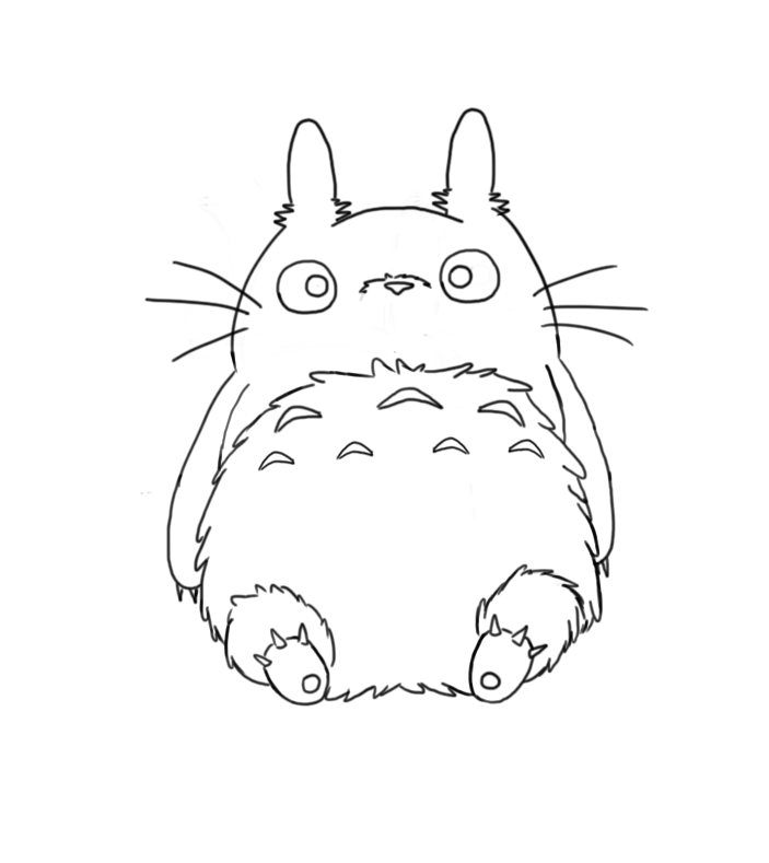 Totoro Lineart by Toastyhedgehog on DeviantArt