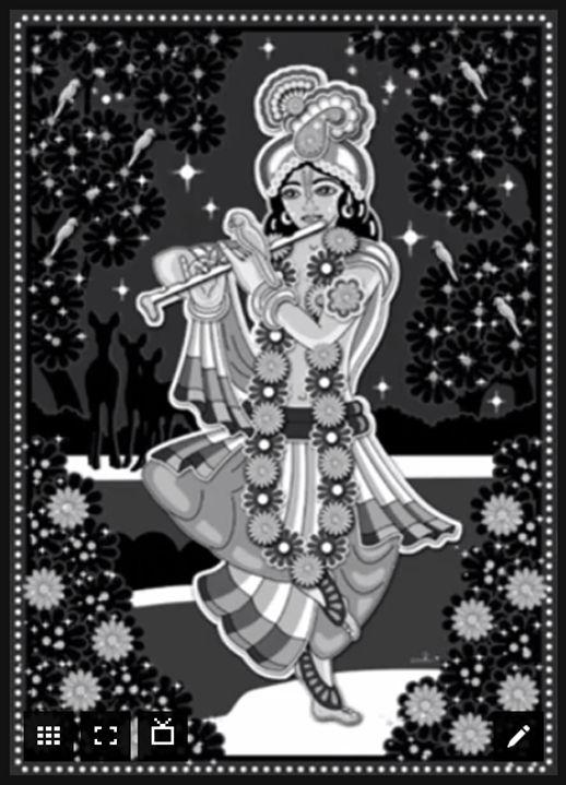 Krishna Images Black And White : krishna, images, black, white, Krishna, Playing, Flute, Black, White, Mohinipriya, DeviantArt