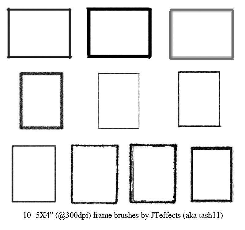 basic frame brushes by