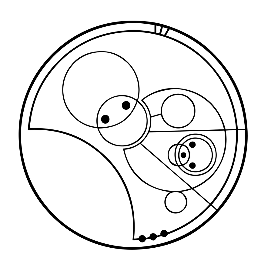 Allons-y! translated into Gallifreyan by TimelordScribe on