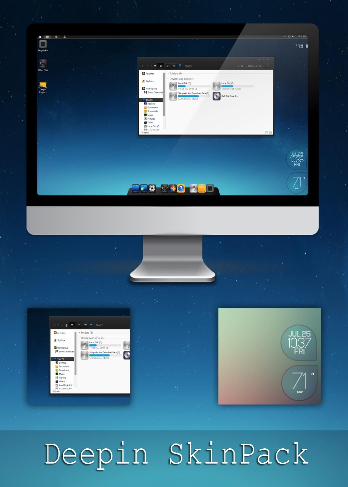 Download Skinpack Windows 7 : download, skinpack, windows, Deepin, Skinpack, Windows, 7/8/8.1, TheDhruv, DeviantArt