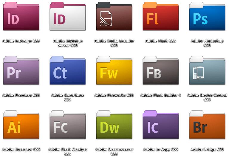 stock adobe cs5 folder