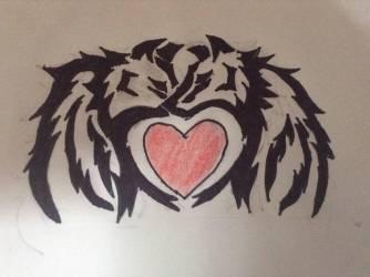 wolf heart creative drawing deviantart