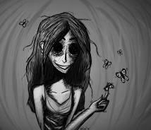 Creepy Butterfly Girl Etybyte Deviantart