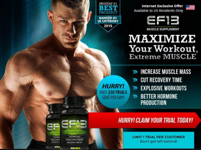 ef13 muscle supplement by