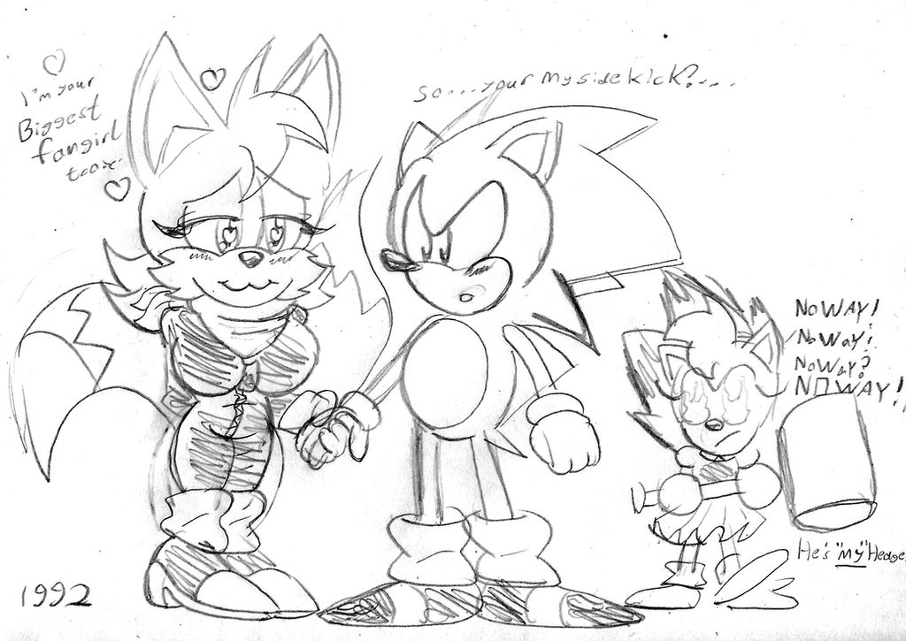 Sonic meets Tailsko the Tail before Tails. by