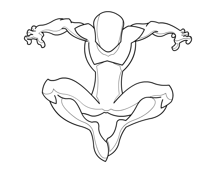 Spiderman Body Template 01 by RiderB0y on DeviantArt