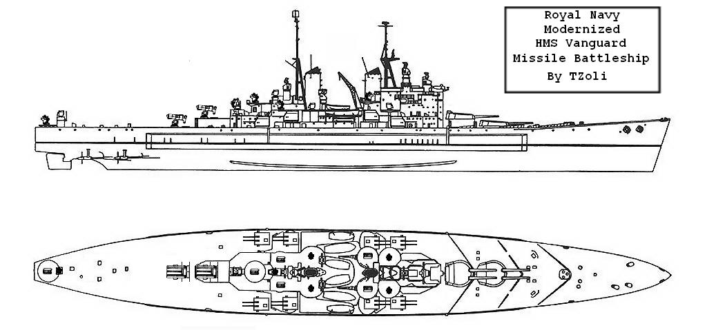 Guided Missile Battleship HMS Vanguard by Tzoli on DeviantArt