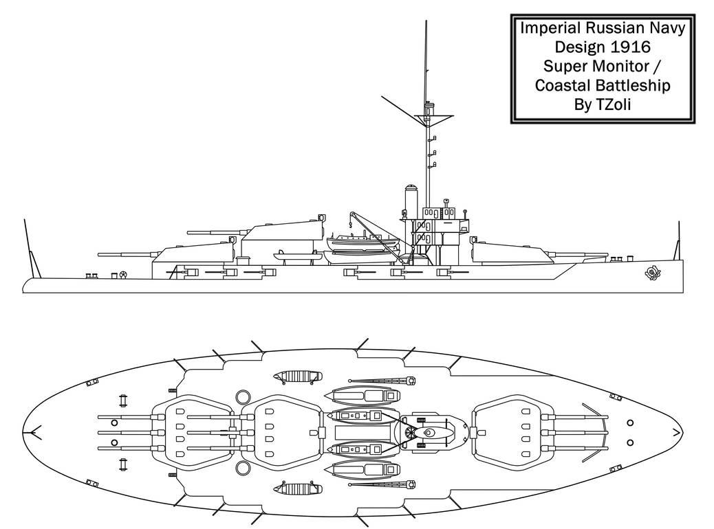 hight resolution of russian coastal battleship by tzoli