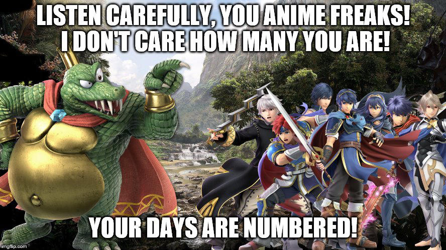 King K Rool Vs Fire Emblem Crew Meme By ARCGaming91 On