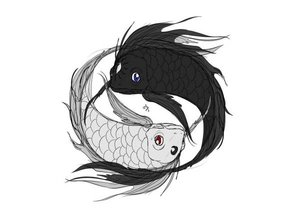 Yin Yang Sun Moon by kunnossa on DeviantArt