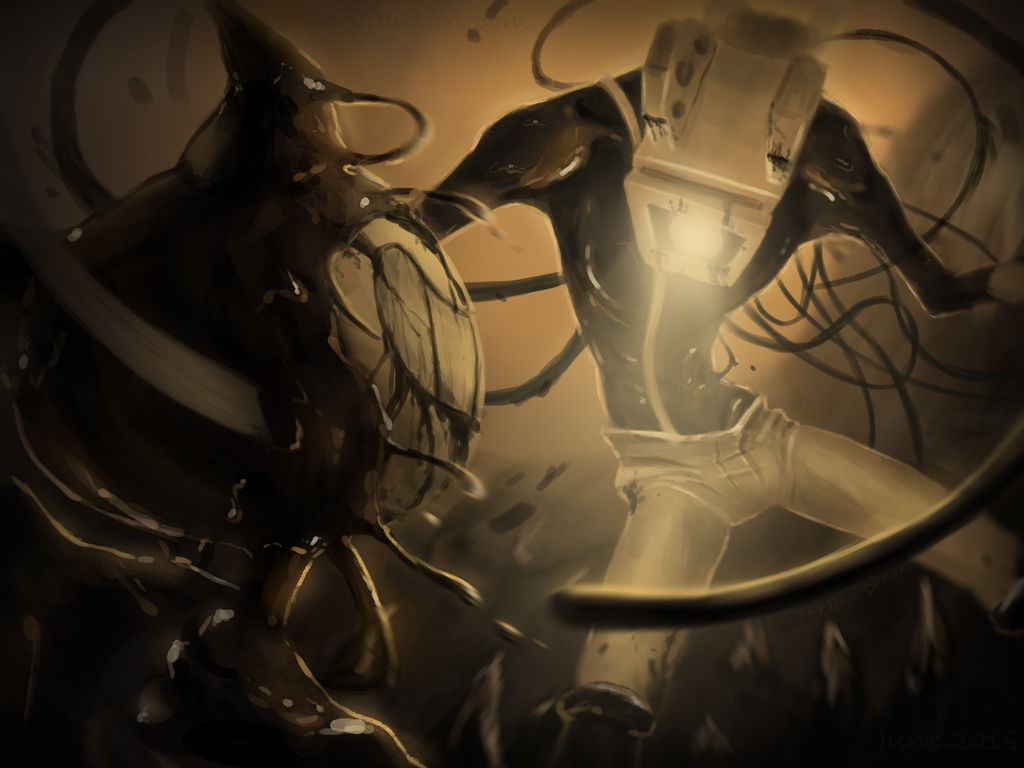 Projectionist Bendy Machine Ink Bendy And Fight