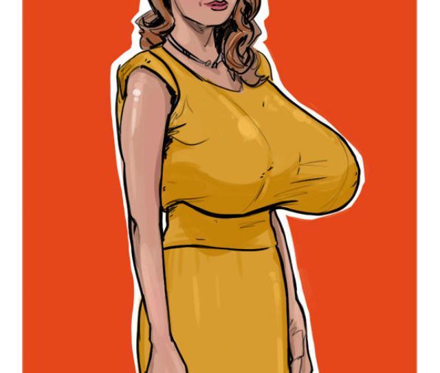 Emma Stone Huge Boobs By Aloysiuseroticart
