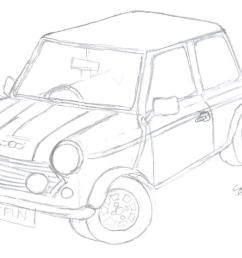 mini cooper sketch by sions  [ 1099 x 727 Pixel ]