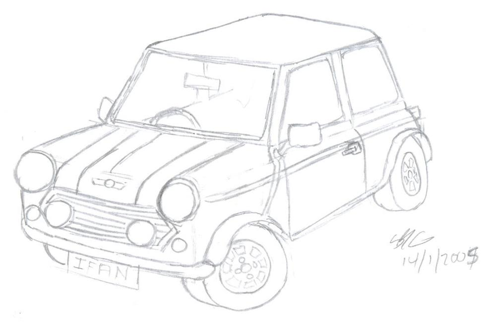 medium resolution of mini cooper sketch by sions